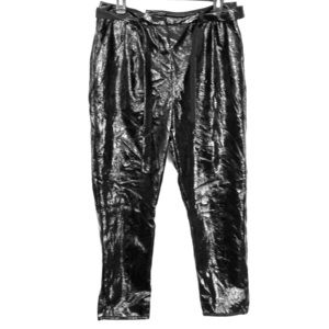 Who What Wear Faux Leather Capri Pants sz 8  Black